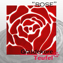 """Quadratische Ornamente  """"Rose"""""""